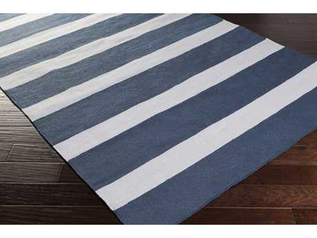 Surya Lagoon Rectangular Navy & Cream Area Rug