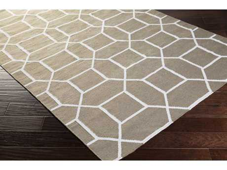 Surya Lagoon Rectangular Charcoal & Cream Area Rug