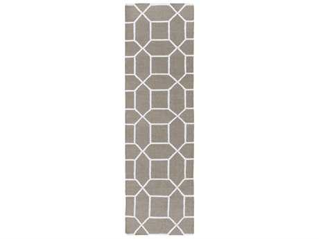 Surya Lagoon 2'6'' x 8' Rectangular Charcoal & Cream Runner Rug