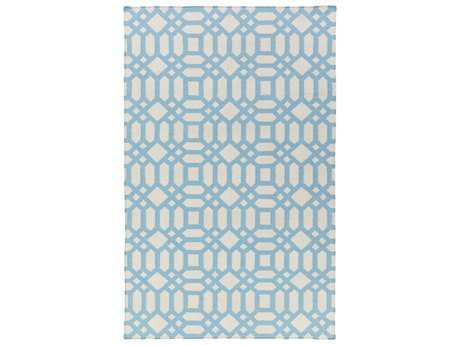 Surya Lagoon Rectangular Sky Blue Area Rug