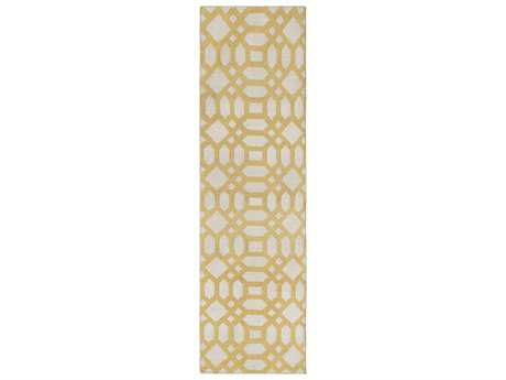 Surya Lagoon 2'6'' x 8' Rectangular Gold Runner Rug