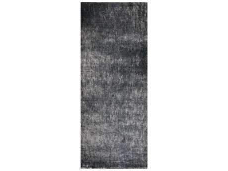 Surya Linen 2'6'' x 8' Rectangular Charcoal Runner Rug