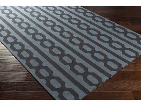 Surya Lockhart Rectangular Denim & Black Area Rug