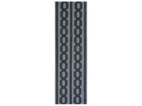 Surya Lockhart 2'6'' x 8' Rectangular Denim & Black Runner Rug