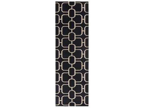 Surya Lockhart 2'6'' x 8' Rectangular Black & Beige Runner Rug