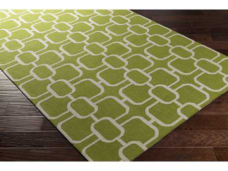 Surya Lockhart Rectangular Grass Green & Light Gray Area Rug