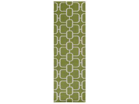 Surya Lockhart 2'6'' x 8' Rectangular Grass Green & Light Gray Runner Rug