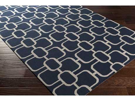 Surya Lockhart Rectangular Navy & Ivory Area Rug
