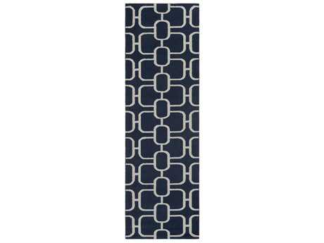 Surya Lockhart 2'6'' x 8' Rectangular Navy & Ivory Runner Rug