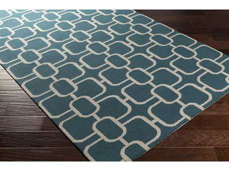Surya Lockhart Rectangular Dark Green & Ivory Area Rug