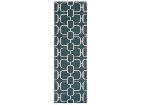Surya Lockhart 2'6'' x 8' Rectangular Dark Green & Ivory Runner Rug
