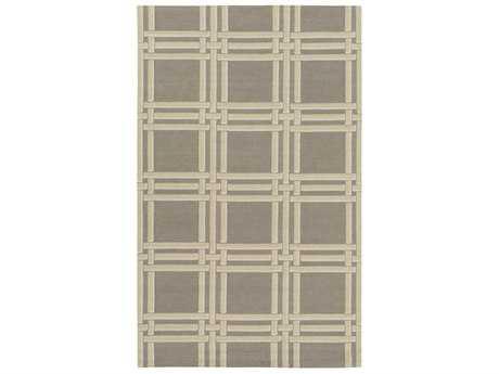 Surya Lockhart Rectangular Medium Gray, Khaki & White Area Rug