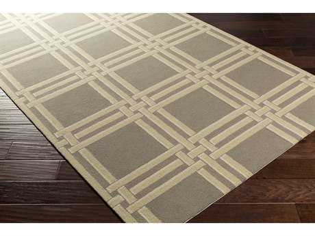 Surya Lockhart Rectangular Medium Gray, Khaki & White Area Rug