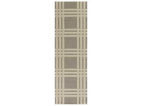 Surya Lockhart 2'6'' x 8' Rectangular Medium Gray, Khaki & White Runner Rug