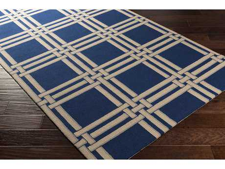 Surya Lockhart Rectangular Navy, Khaki & Light Gray Area Rug