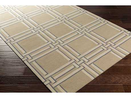 Surya Lockhart Rectangular Khaki, Cream & Denim Area Rug