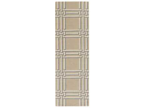 Surya Lockhart 2'6'' x 8' Rectangular Khaki, Cream & Denim Runner Rug