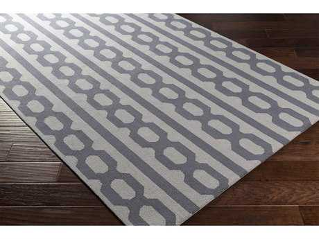 Surya Lockhart Rectangular Navy & Silver Gray Area Rug