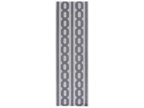 Surya Lockhart 2'6'' x 8' Rectangular Navy & Silver Gray Runner Rug
