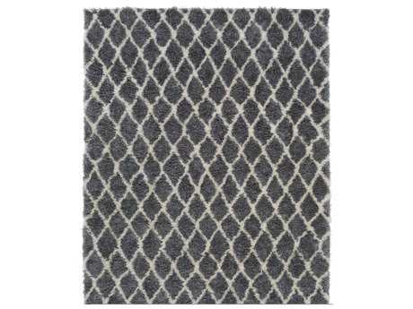 Surya Llana Rectangular Medium Gray & White Area Rug