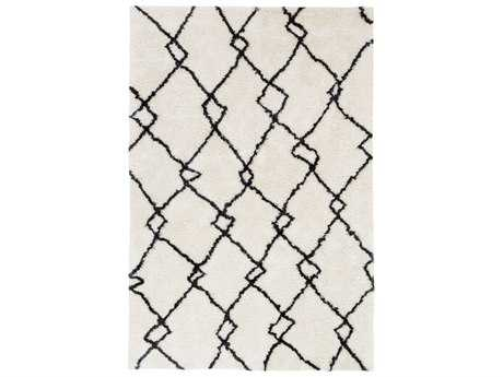 Surya Llana Rectangular White & Black Area Rug