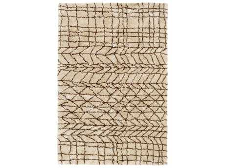 Surya Llana Rectangular Khaki & Dark Brown Area Rug