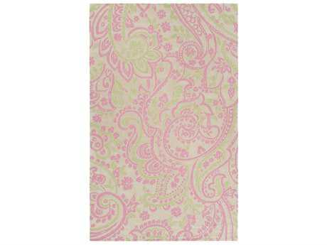 Surya Lullaby Rectangular Bright Pink, Mint & Ivory Area Rug