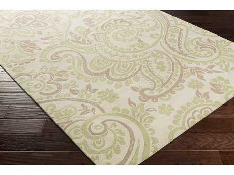 Surya Lullaby Rectangular Mint, Camel & Ivory Area Rug
