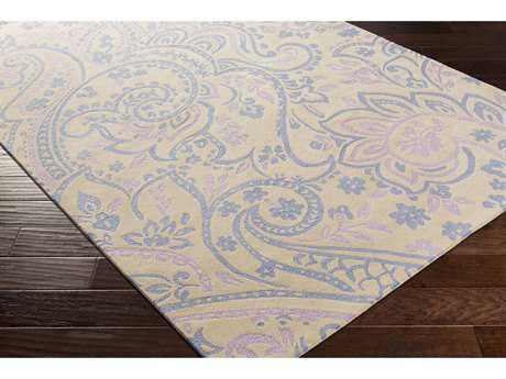 Surya Lullaby Rectangular Bright Blue, Lavender & Ivory Area Rug
