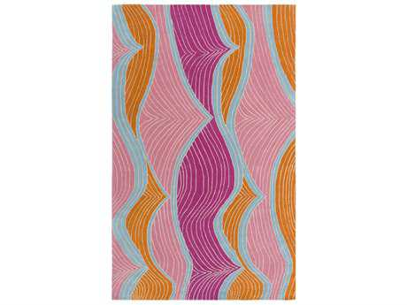 Surya Lullaby Rectangular Bright Purple, Bright Pink & Sky Blue Area Rug