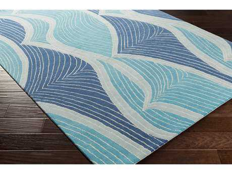 Surya Lullaby Rectangular Sky Blue, Bright Blue & Sage Area Rug