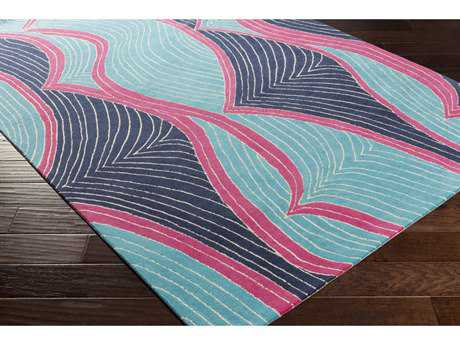 Surya Lullaby Rectangular Sky Blue, Bright Purple & Bright Blue Area Rug