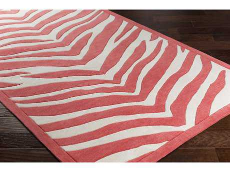 Surya Leap Frog Rectangular Bright Pink & Ivory Area Rug