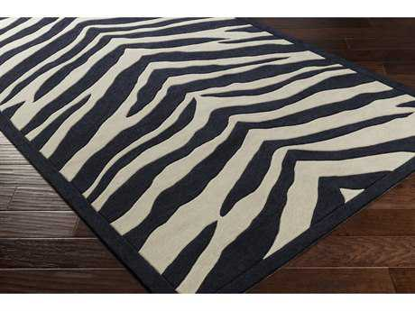 Surya Leap Frog Rectangular Black & Ivory Area Rug