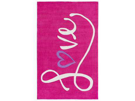 Surya Leap Frog Rectangular Bright Pink, Bright Purple & Ivory Area Rug