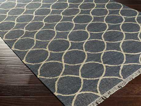Surya Laural Rectangular Navy Area Rug