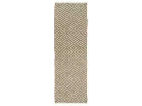 Surya Laural 2'6'' x 8' Rectangular Moss & Beige Runner Rug