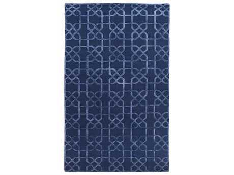 Surya Lydia Rectangular Navy Area Rug