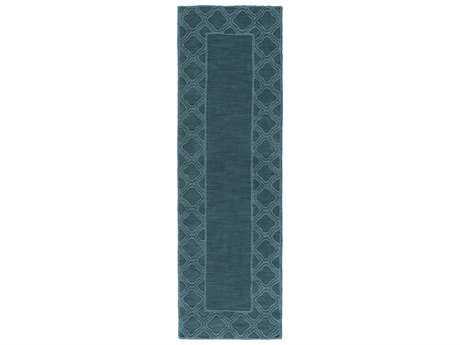 Surya Mystique 2'6'' x 8' Rectangular Teal Runner Rug