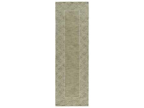 Surya Mystique 2'6'' x 8' Rectangular Olive Runner Rug