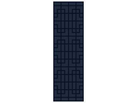 Surya Mystique 2'6'' x 8' Rectangular Navy Runner Rug