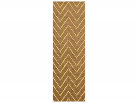 Surya Mateo 2'6'' x 8' Rectangular Gold Runner Rug