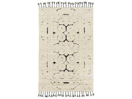Surya Maori Rectangular Beige & Black Area Rug
