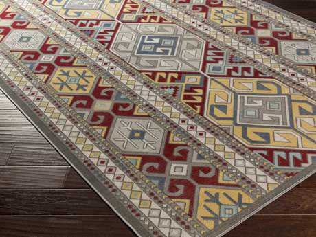 Surya Mavrick Rectangular Burgundy Area Rug