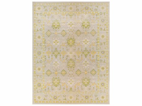 Surya Mavrick Rectangular Light Gray, Lime & Wheat Area Rug