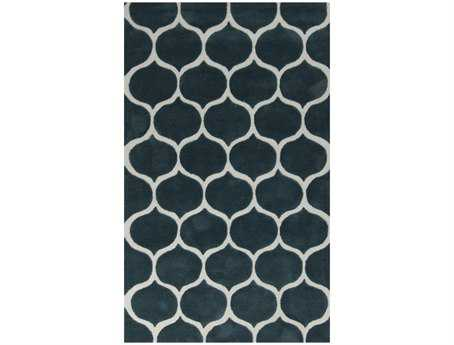 Surya Mamba Rectangular Teal Area Rug