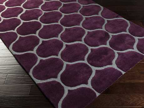 Surya Mamba Rectangular Purple Area Rug