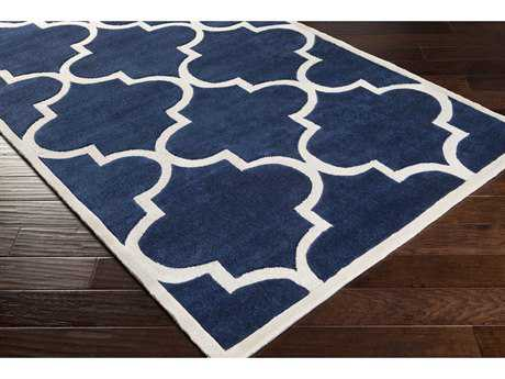 Surya Mamba Rectangular Navy & White Area Rug