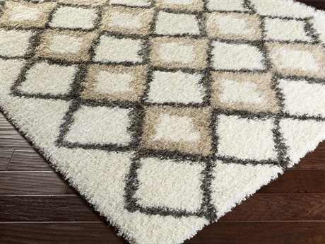 Surya Mercer Rectangular Beige & Charcoal Area Rug