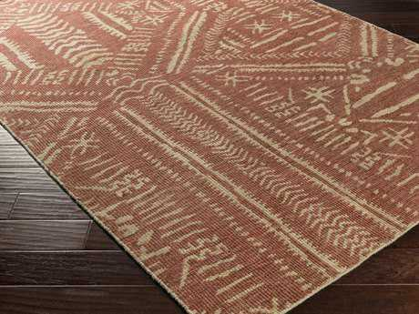 Surya Mandela Rectangular Rust Area Rug